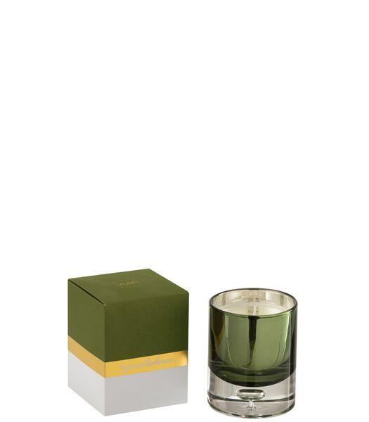Bougie Parfumee Bergamot&Fig Verre Vert Small 35 Heures
