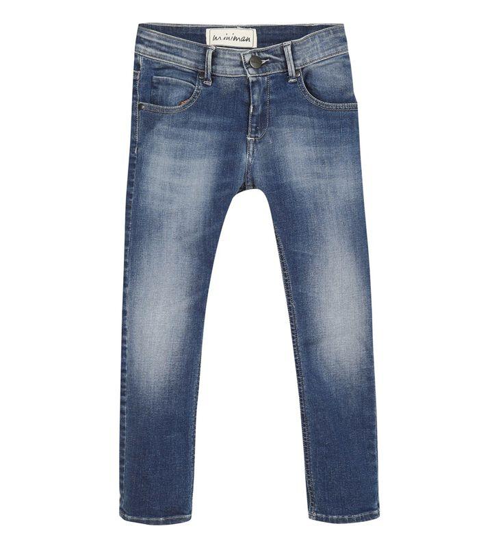Verbleekte slim jeans image number 0