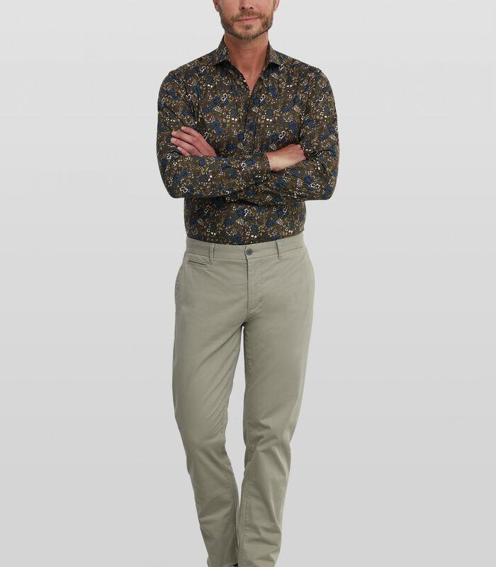 Poplin overhemd met bloemenprint image number 1