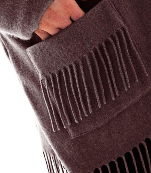 Homewear korte poncho kasjmier