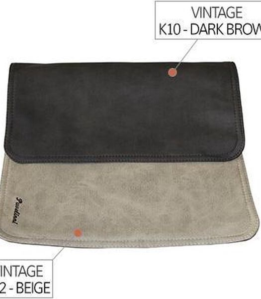 Placemat 30x45cm Creme/Bruin K02/K10