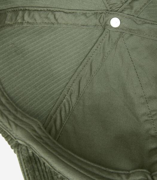 Casquette en velours côtelé en coton biologique mélangé