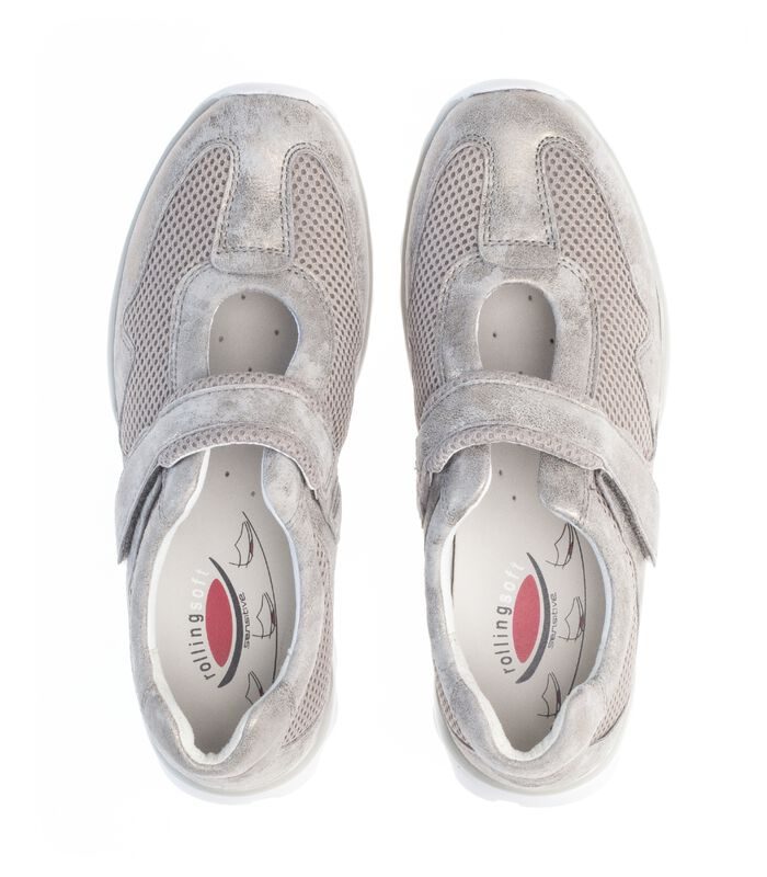 Sneakers plat textiel image number 2