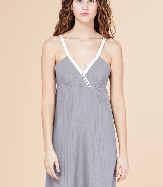 Korte jurk MERITANT met bandjes en ruitjesprint