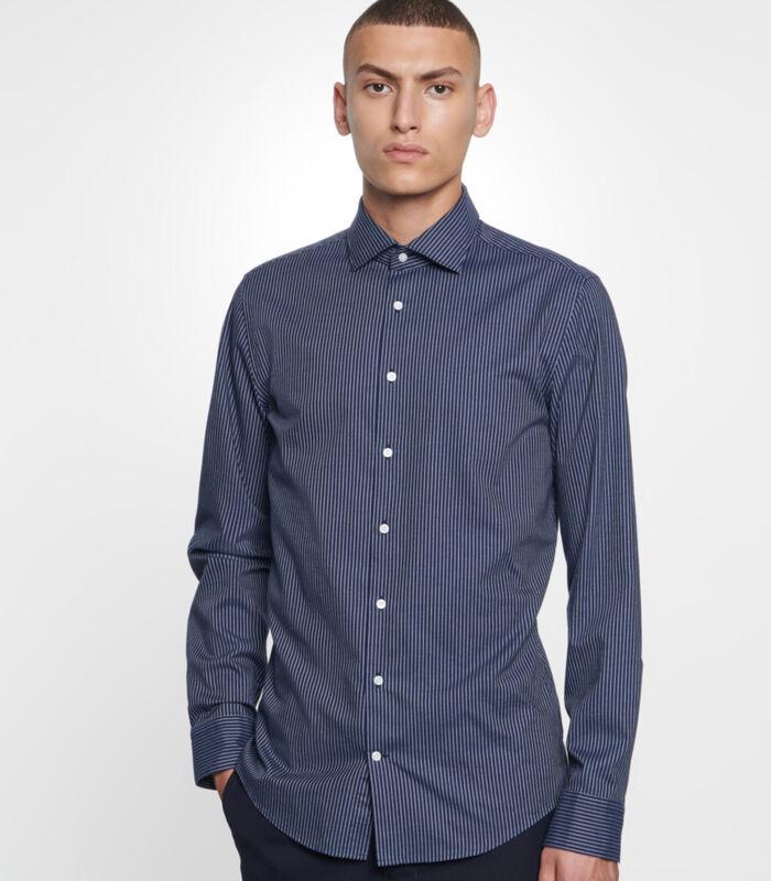Overhemd Slim Fit Lange mouwen Strepen image number 0