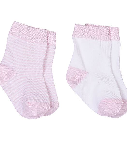 Chaussettes bébé en coton biologique (lot de 2 paires)