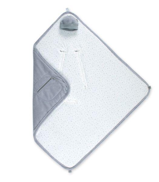 Wikkeldeken 0-12m sterretjes grijs
