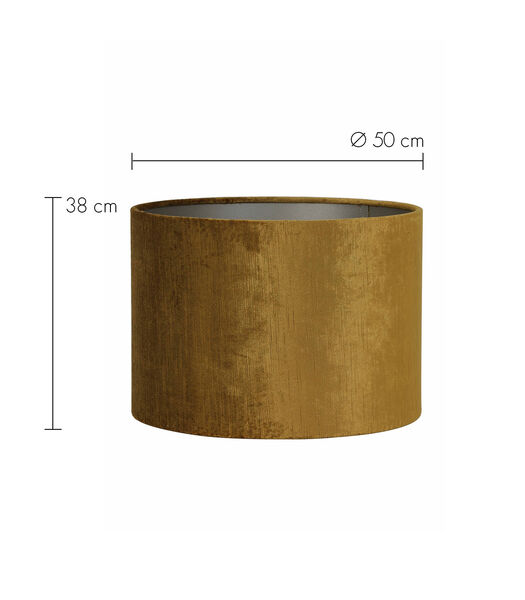 Lampenkap cilinder GEMSTONE - 50-50-38cm - goud