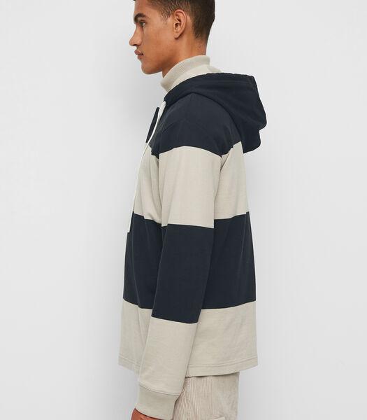 Rugbyshirt met capuchon van sweatstof van organic cotton
