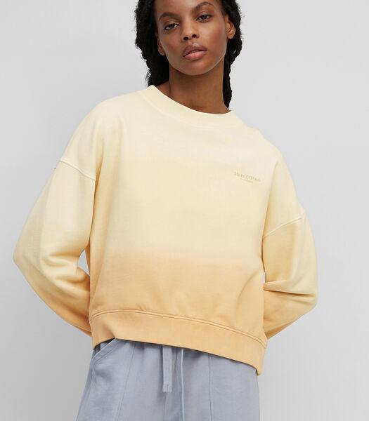 Dip-dye sweatshirt van organic cotton
