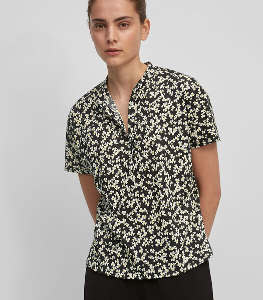 Jersey blouse van lichte single jersey