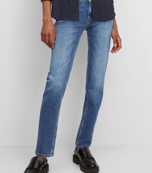 Jeans model ALBY straight met een normale taillehoogte