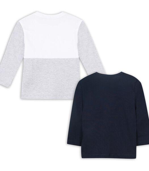 Set met 1 polo en 1 t-shirt met lange mouwen