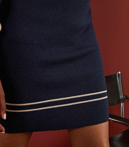 Korte tweekleurige rok