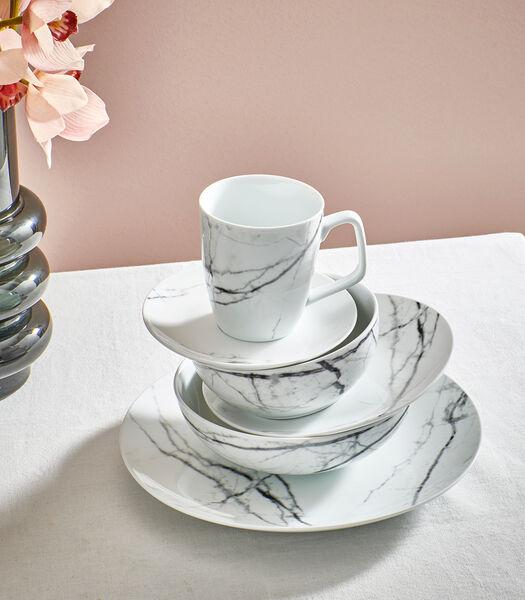 Beker 36cl marble Stone - set/4