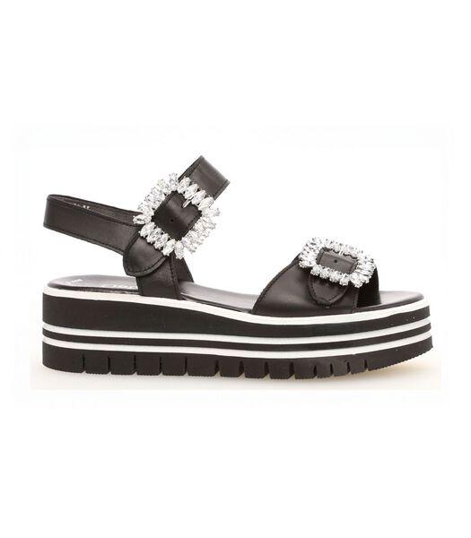 Sandales noir en cuir