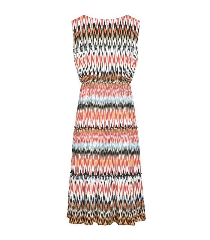 Robe midi motif zigzag ensoleillé LUANDA image number 1