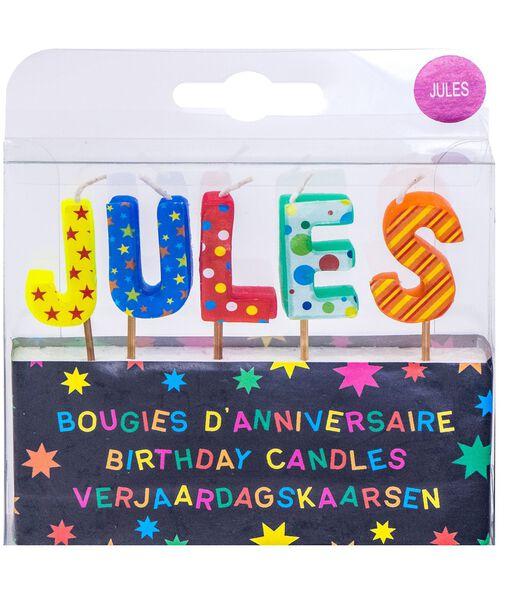 Verjaardagskaarsen voor de naam Jules