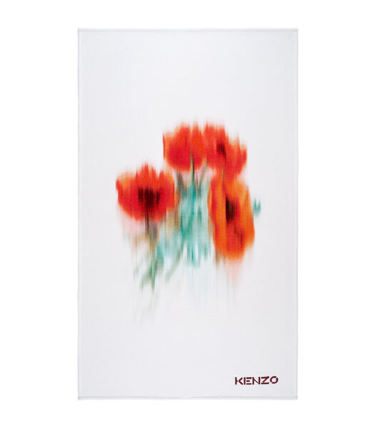 K Poppy - Serviette de plage Velours de coton 450 g/m²