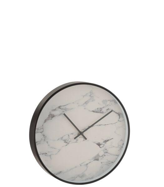 Horloge Marbre Plastique Noir