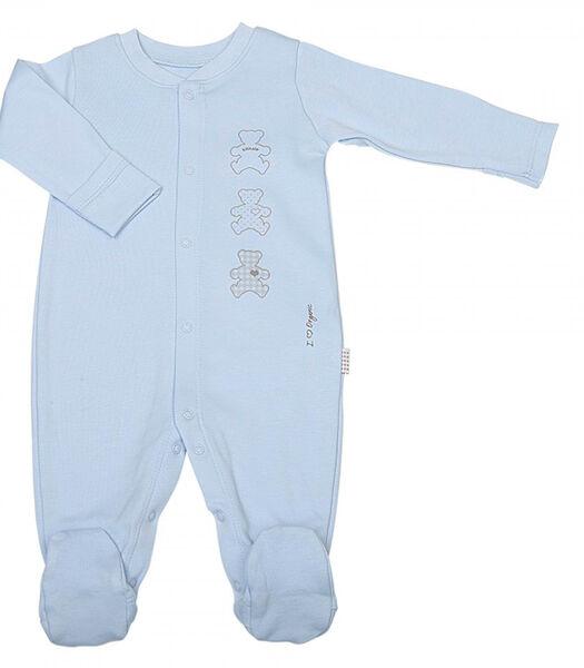 Pyjama bébé en coton bio, BASIC