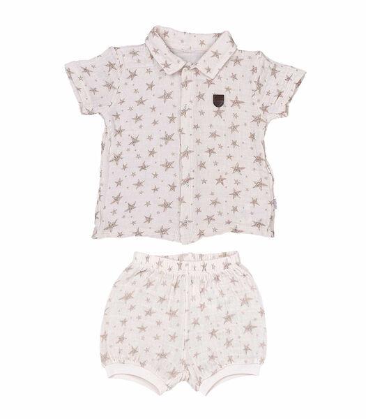 Baby tshirt en broekje set in biokatoen