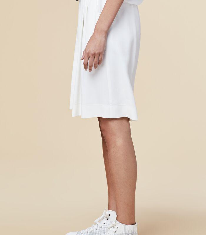 Marine-blauwe korte broek met elastische taille HOUSAMY image number 2