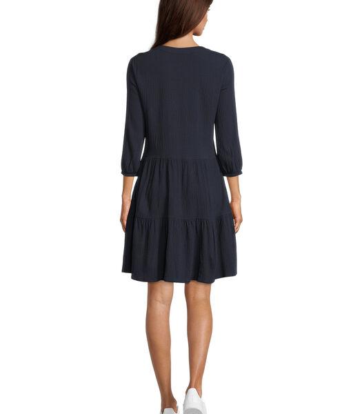 Gelaagde jurk met structuur