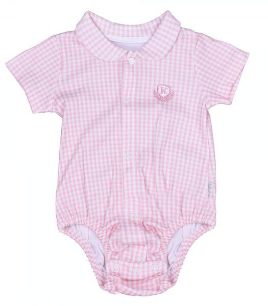 Baby rompertje met korte mouwen Vichy - Karl