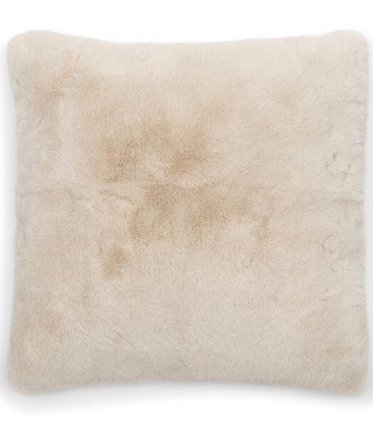 Faux Fur Pillow Cover beige 50x50