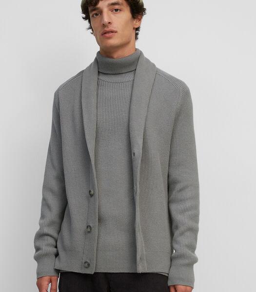 Vest van een hoogwaardige mix van katoen en wol