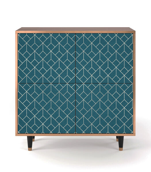 BS3 Turquoise Geometry - Dressoir - 4 deuren