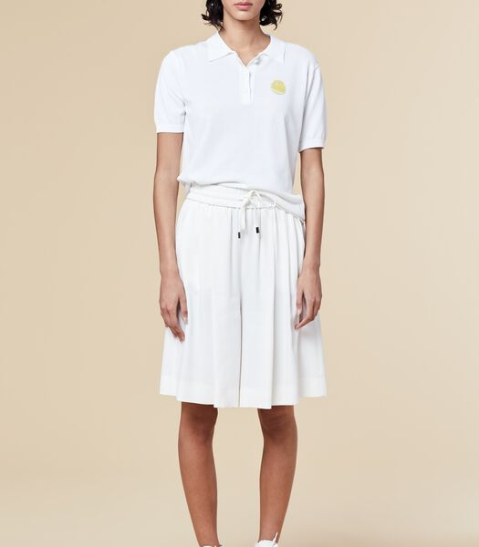 Marine-blauwe korte broek met elastische taille HOUSAMY