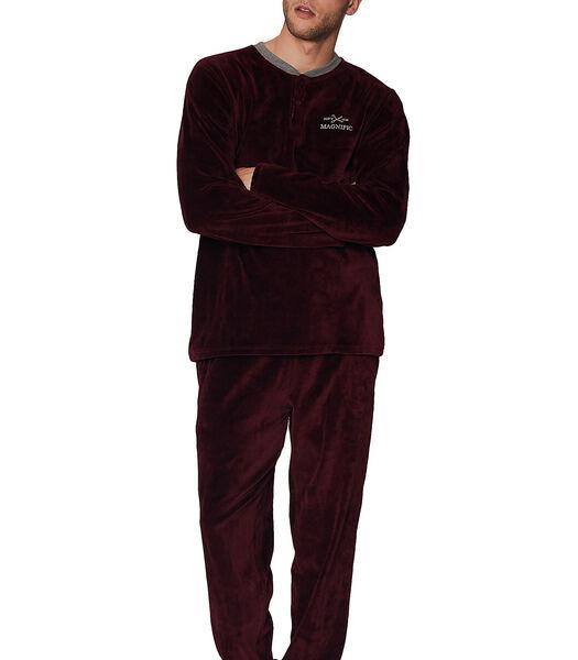 Fluwelen pyjama broek en top Home