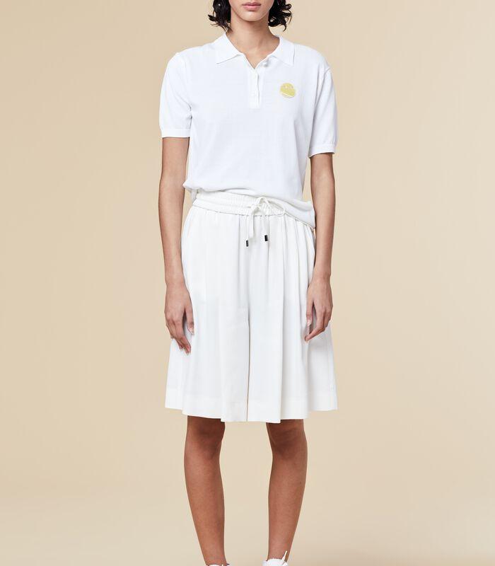 Marine-blauwe korte broek met elastische taille HOUSAMY image number 0