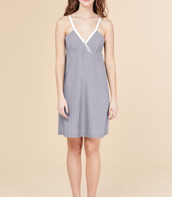 Korte jurk MERITANT met bandjes en ruitjesprint image number 3