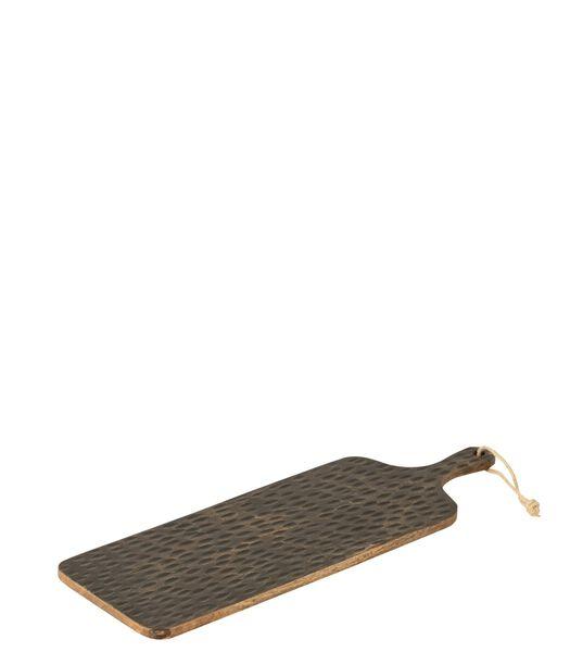Plank Rechthoek Mango Hout Bruin/Zwart