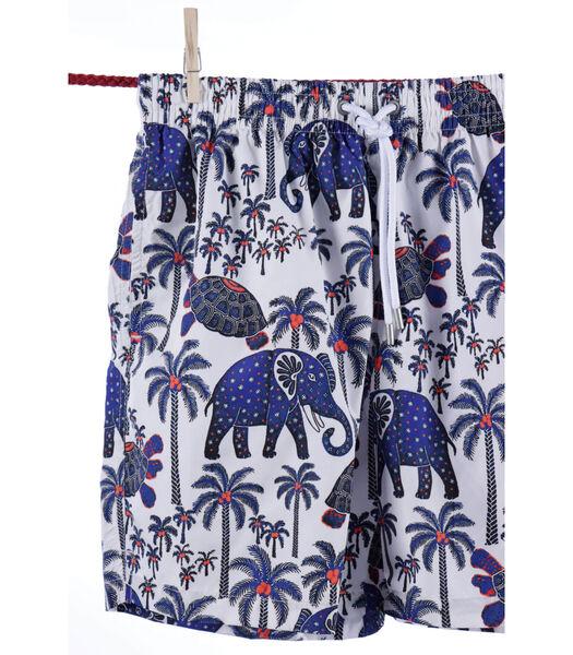Zwemshort polyamide olifant & schildpad Ibiza