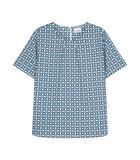 Shirtblouse Print Korte mouwen Ronde Hals image number 0
