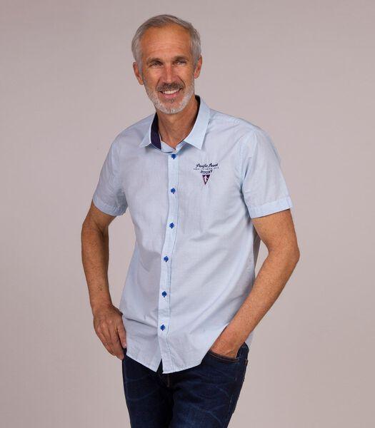 Overhemd in popeline met print
