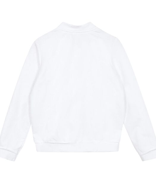 Fleece sweatshirt met rits