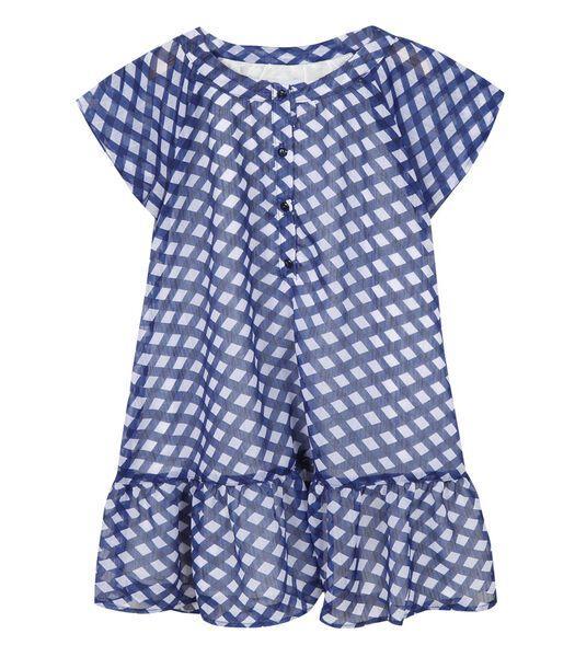 Geprint jurk met korte mouwen