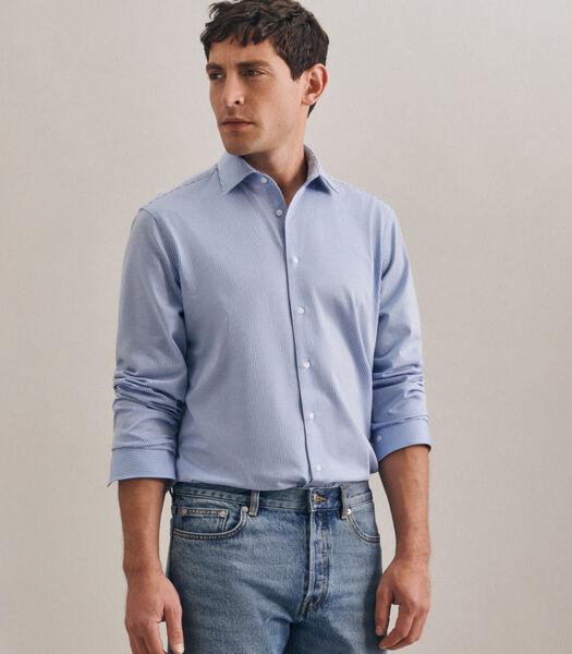 Jerseyhemd Shaped Fit Lange mouwen Strepen