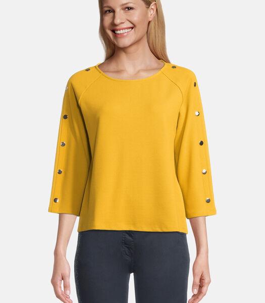 Casual sweatshirt met knopen