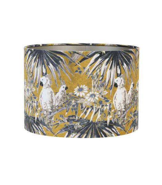 Kap cilinder 30-30-21 cm VELOURS parrot oker