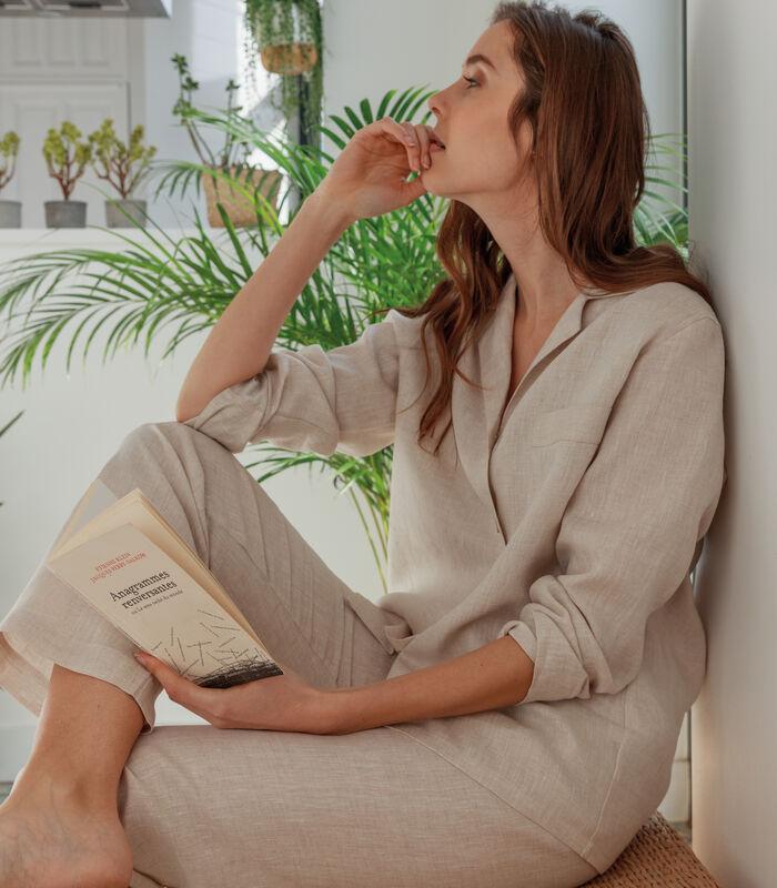 Pyjamajasje zuiver Frans linnen, VICTORIA image number 2