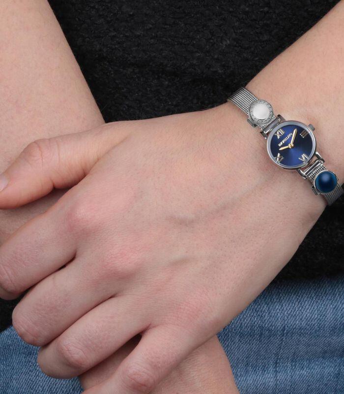 Analoog horloge staal, gekleurde kralen SENSAZIONI image number 2