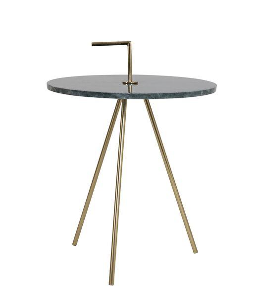 Bijzettafel Moyuta - Marmer Groen/Goud - Ø42,5x56 cm