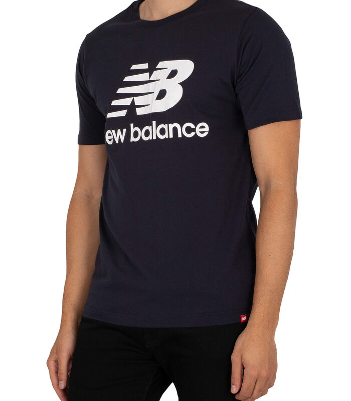 T-shirt à logo empilé Essentials image number 1