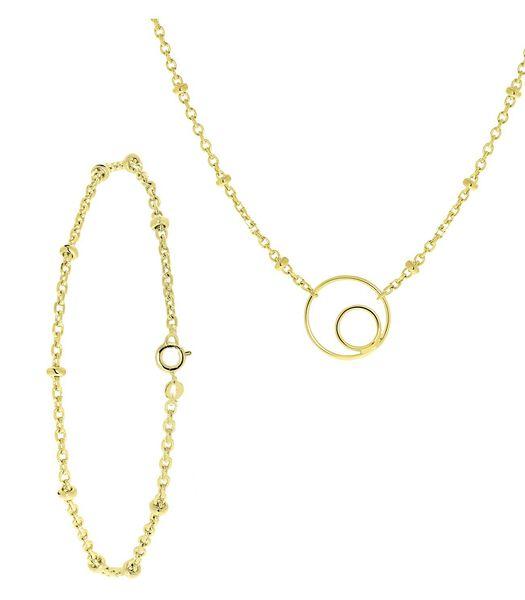 Ensemble plaqué or avec bracelet et collier